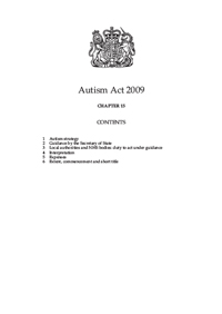front cover of the Autism Act